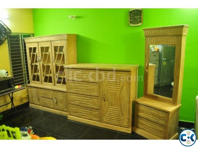 Origin ctg teak sagoon 3 pcs bedroom furniture | ClickBD large image 0