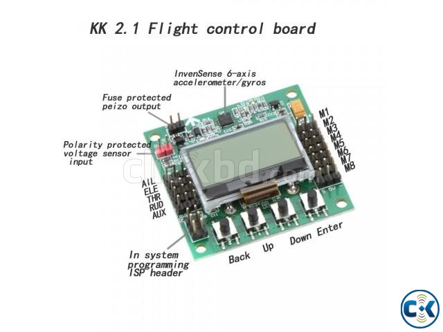 LCD Flight Control Board kk 2 in bd quadcapter | ClickBD large image 1