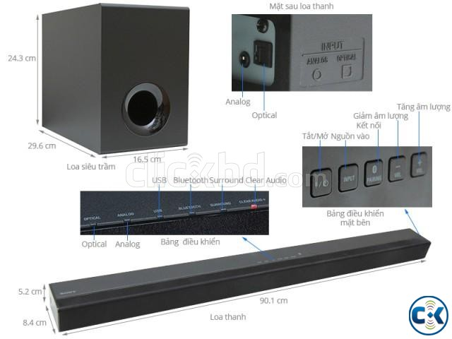 Sony Ct380 Soundbar Speaker Has 2 1 Channel Up To 300w Sou Clickbd Large Image 0