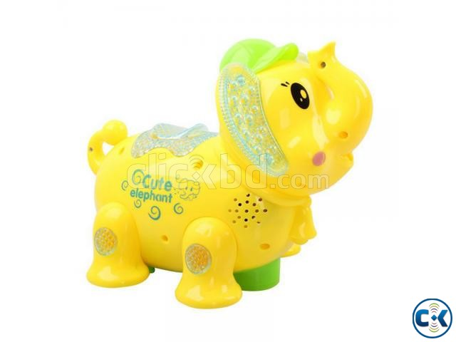 Elephant Projection Flash Electric Kids Toy- Multi-color | ClickBD large image 0