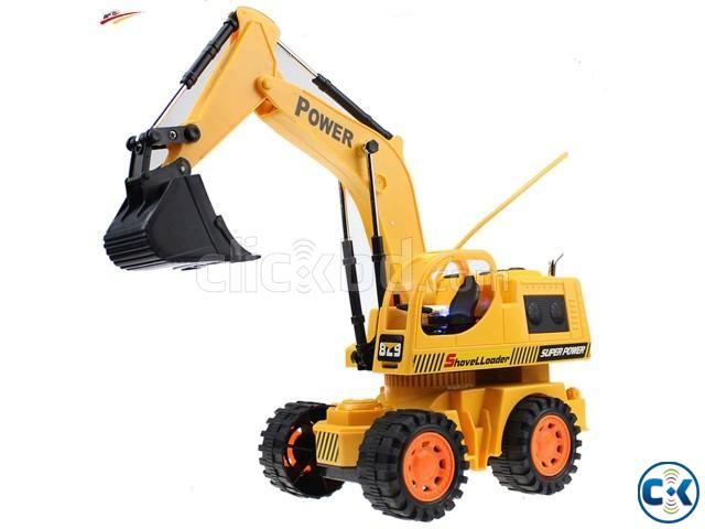 Baku Remote Controlled Wheel Excavator - Yellow | ClickBD large image 0
