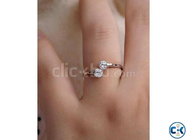 Rose Gold Plated hion Design Twin Zircon CZ | ClickBD large image 1