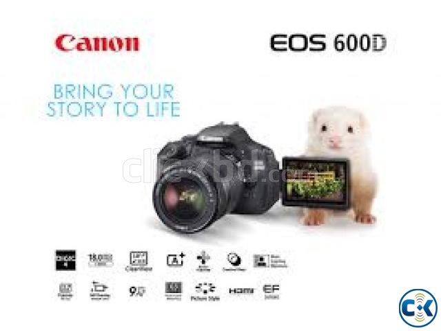 Canon EOS 600D 18MP 18-55mm Digital SLR Camera | ClickBD large image 1