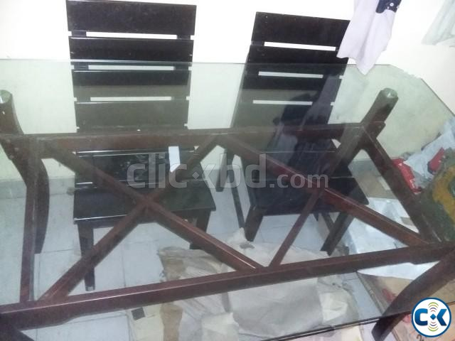 Otobi Dining Table with 4 chairs | ClickBD large image 0