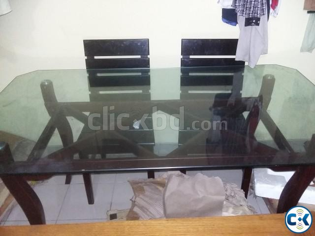 Otobi Dining Table with 4 chairs | ClickBD large image 1