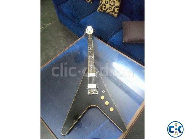 Flying V shape custom electric guitar | ClickBD large image 0