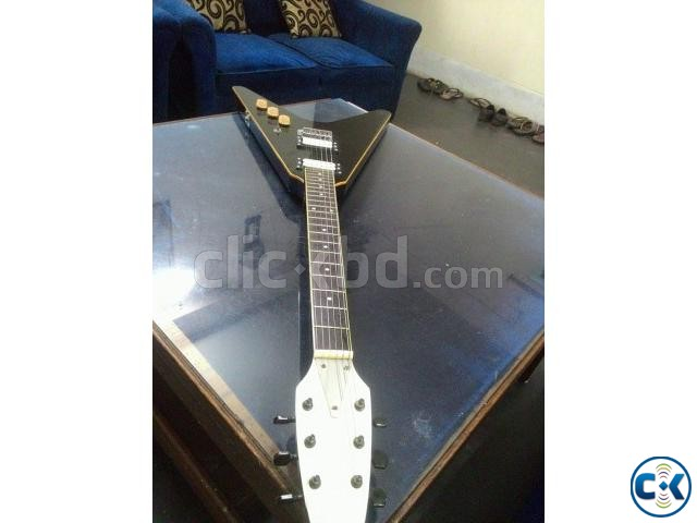Flying V shape custom electric guitar | ClickBD large image 1