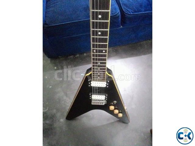 Flying V shape custom electric guitar | ClickBD large image 0
