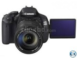 Canon EOS 600D With 18- 55 Lens