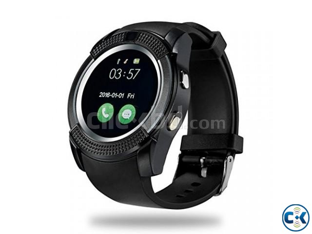 V8 Smart Watch Apple Android support Sim | ClickBD large image 0
