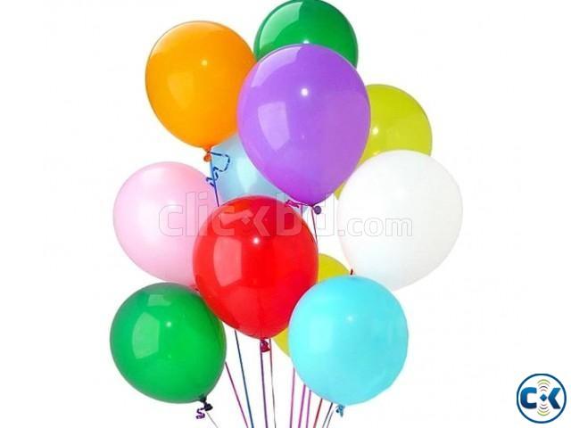 100pcs lot Multicolor Air Balloon Festival - Multi-Color | ClickBD large image 0