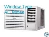Midea Window Type 1.5 Ton AC Original BTU 18000