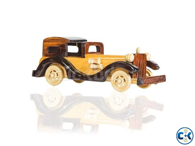 Wooden Model Car Replica Vintage Car | ClickBD large image 0