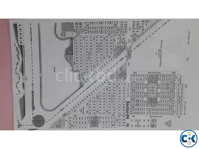 Rajuk Purbachal 8 Kt. South east open corner plot | ClickBD large image 0
