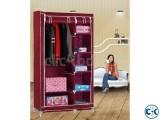 Metal Stand Fabric Folding Closet Wardrobe Furniture VRS-6