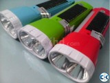 Solar Electric dual Rechargeable Torch FlashLight