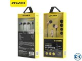 Awei ES910i universal wired smart headphone Color Gold