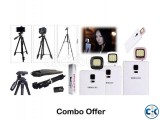 Combo Offer- Professional Tripod for Mobile Camera DSLR with