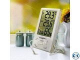 Indoor Outdoor Thermometer Hygrometer Clock Room condition