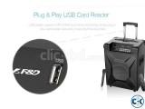 F D T2 Bluetooth 4.2 FM Crystal Sound Trolley Speaker