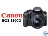 Canon EOS 1300D 18MP DIGIC 4 Budget DSLR Camera