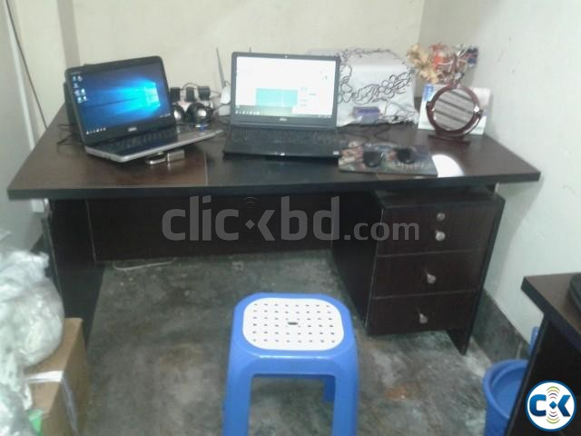 spotless new table with chair | ClickBD large image 0