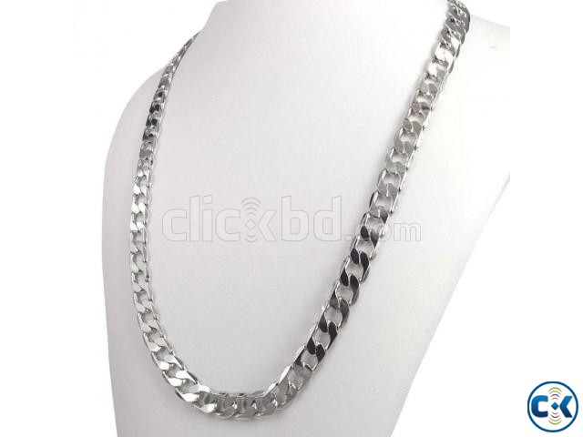 18k White Plated Men s Chain 24inch | ClickBD large image 0