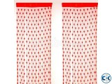 2 Pieces Heart Shape Net Curtain Combo - Red