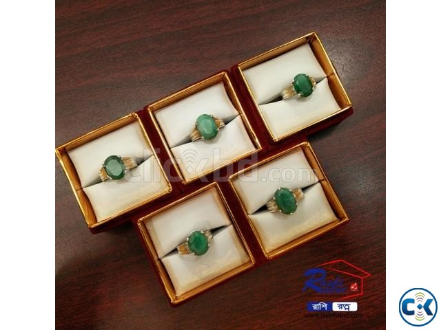 Brazil Panna Stone Rings | ClickBD large image 2