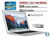 Apple 13.3 A1466 Core i5 8GB RAM 128GB SSD Macbook Air
