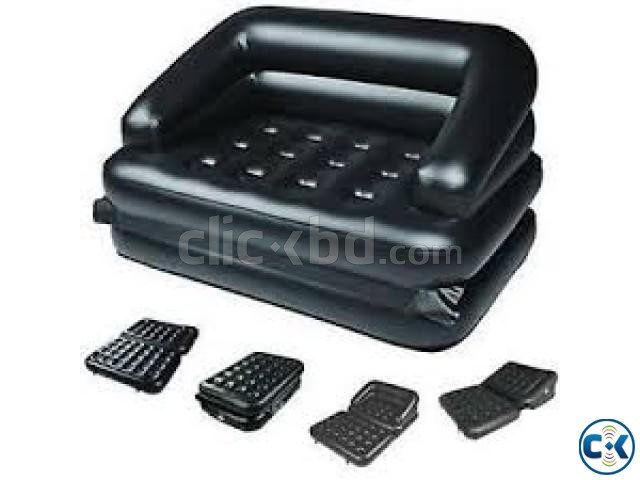 5 in 1 Inflatable Double Air Bed Sofa cum Chair | ClickBD large image 2