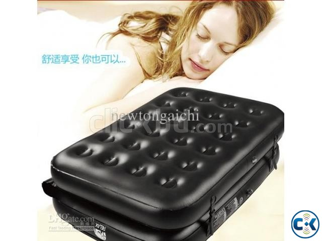 5 in 1 Inflatable Double Air Bed Sofa cum Chair | ClickBD large image 4