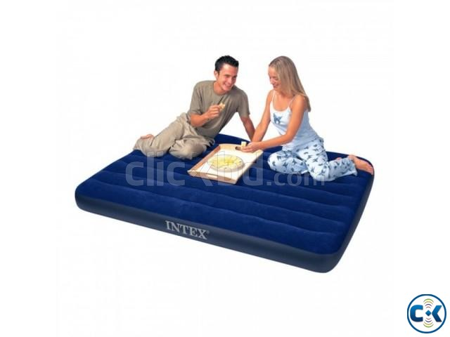intex double Airbed intact Box free pumper | ClickBD large image 0