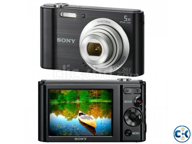 SONY DSCW800 B 20.1 MP Cyber-shot Digital Camera Black  | ClickBD large image 0