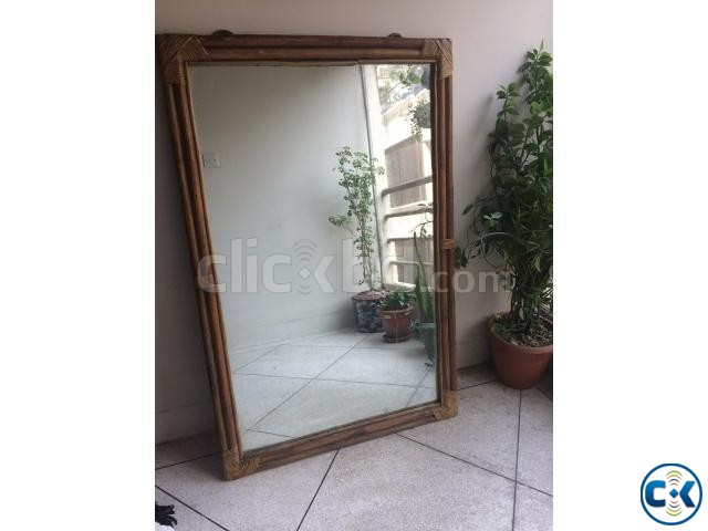 Mirror with designer Cane Frame | ClickBD large image 0