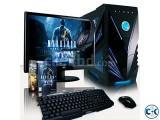 Core i3 GAMING PC 4GB 300GB 17 LED