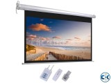 Motorized Electronically Projection Screen 84 x 84
