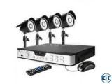 CC Camera 04Pcs 04Ch DVR Full Package