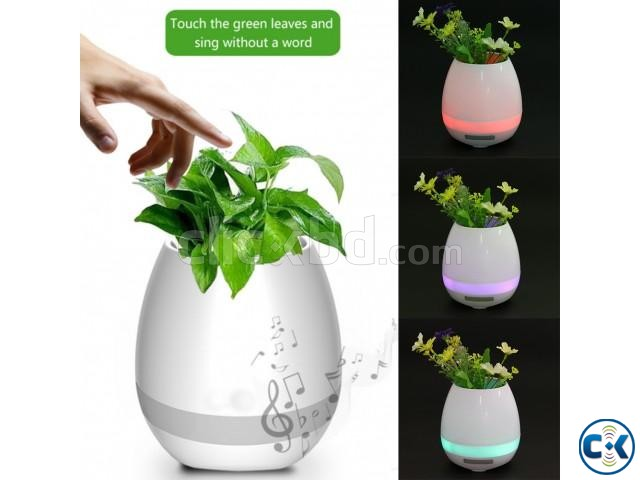 4 in 1 Touch Smart flowerpot Speaker | ClickBD large image 0
