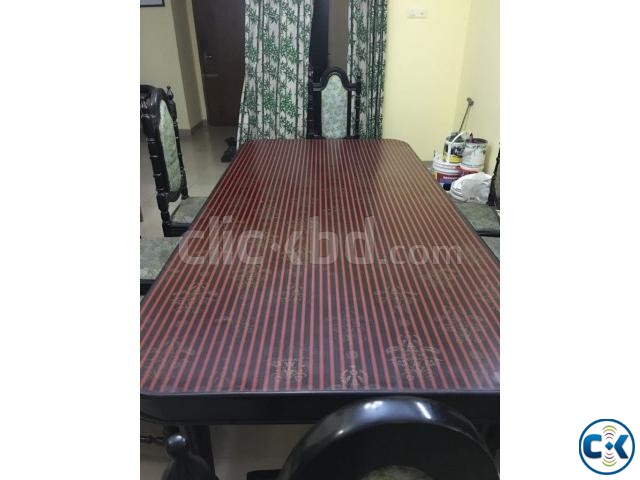 Dining table with 8 chairs | ClickBD large image 0