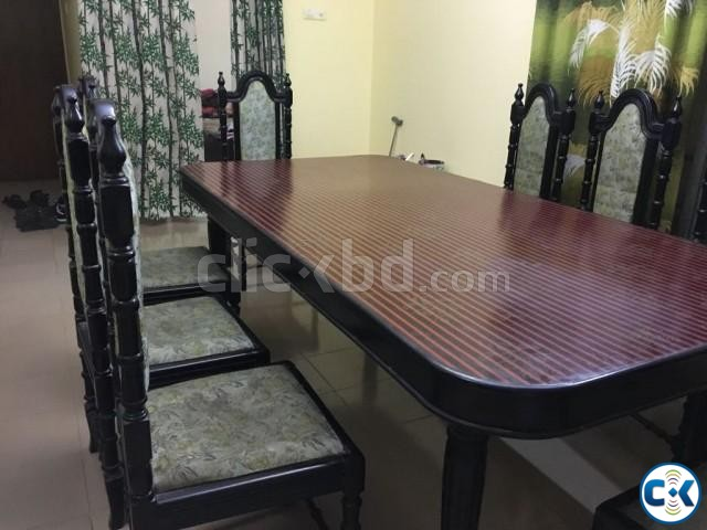Dining table with 8 chairs | ClickBD large image 1
