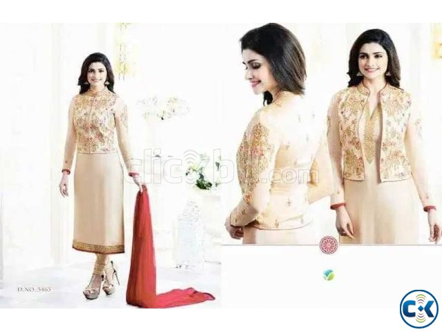 Very soft Georgette Indian Embroidery Chiffon | ClickBD large image 0