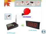 Queue calling system simple ticket dispenser with numerical