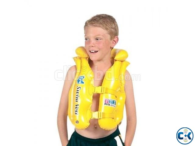 Inflatable Life Jacket For Kids - Yellow | ClickBD large image 0