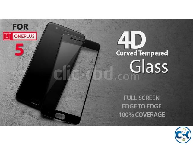 ONE PLUS 5 Premium 4D Curved Tempered Glass | ClickBD large image 0