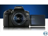 Canon Eos 750d Dslr Camera With 18-55 Lens