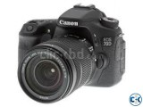 Canon Eos 70d Wi-Fi Dslr Camera With 18- 55 Lens