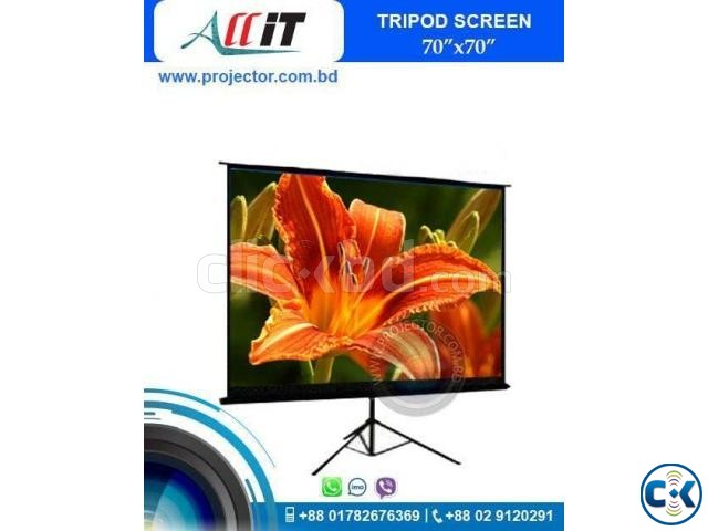 70 X 70 LCD Projector Screen | ClickBD large image 0