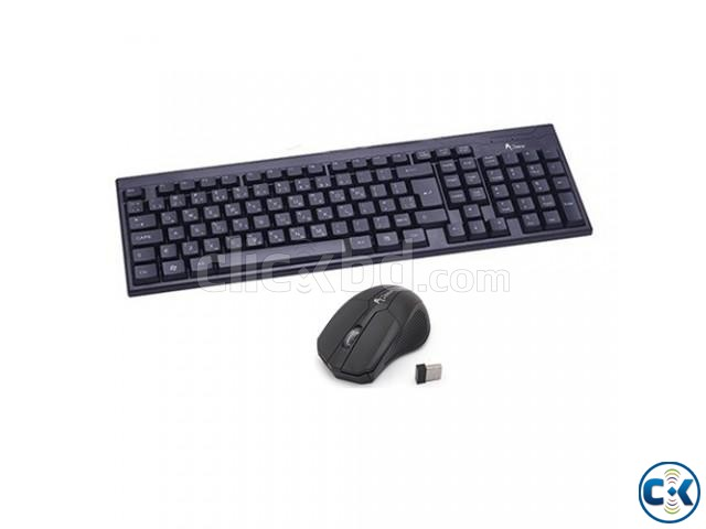 A.Tech Wireless Mouse Keyboard Combo | ClickBD large image 0
