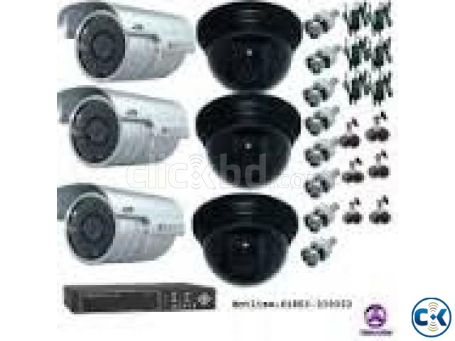 CC Camera 08Pcs 08Ch DVR Full Package | ClickBD large image 2